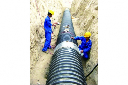 hdpe双壁波纹管大口径排污管